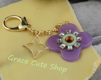 Free Shipping 2013 New Designer Ornament In Bag/Moblie/Key Fashion Sense 1:1 AAA Quality With Gift Box #L15-Purple