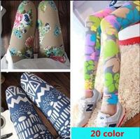 high quality big size large  elasticSoft ink printing large flowers pants summer trousers for the women plus size