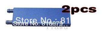 2pcs new Aluminum Cooling Block For CPU Graphics CO2 Laser Cooler Peltier al Liquid cool cooled,freeshipping