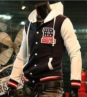 Free Shipping Men's fashion jackets R letter baseball shirt baseball uniform jacket M~XXL