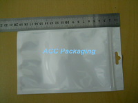 Wholesale 12cm*20cm White / Clear Self Seal Zipper Plastic Retail Packaging Bag, Ziplock Bag Retail Package With Hang Hole