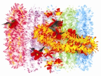 10 pcs party hawaiian flower lei artificial garland wreath cheerleading necklace decoration, Drop shipping HH0031