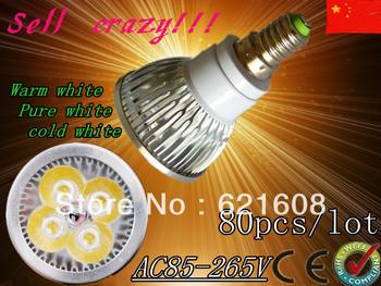 Free shipping 80pcs/lot Dimmable LED Lamp E14 e27 gu10 gu5.3 mr16 12w  Halogen Bulb Light Bulbs High Power light LED Spotlight