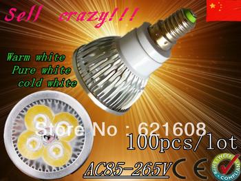 free shipping 100pcs /lot Dimmable LED Lamp E14 e27 gu10 gu5.3 mr16 12W Halogen Bulb Light Bulbs High Power light LED Spotlight
