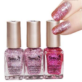 Super sparkle phototherapy 3 bottles of nail polish set a gradient effect