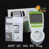 EU Plug Electric Energy Saving Power Meter Consumption Monitor Analyzer Free Shipping