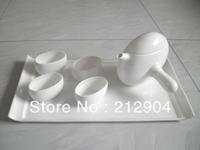 Free shiping japanese style ceramic bone china Tea set One Teapot  four cups