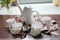 Free Shipping Japanese Style White Bone China Ceramic Cup Banana Teapot Set Gift