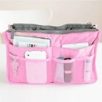 yp012 Free shopping portable multi-function receive arrange double zipper bag cosmetic bag 6 color can choose