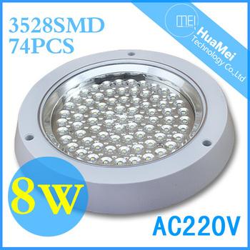 8W ceiling led kitchen light,CE&ROHS,74leds,AC220V,110-120 degrees,panel led ceiling,Cool white/Warm white,6000-7000k/2800-3200k