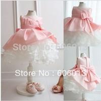 baby chilren girls ball grown dress dresses pink tutu bowknot