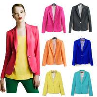 WOMAN SUIT BLAZER FOLDABLE BRAND JACKET women clothes suit Free shipping 2014 Wholesale,Cardigan