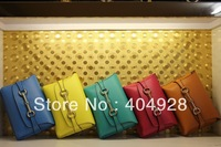 317636  Clutches   Colorblock  2013 new arrivals Designer fashion handbags  wholesale and retail women genuine  leather