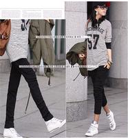 Discount Plus Size Lady's Black Gray Harem Pants Soft Cotton Pencil trousers Elastic Waist Pocket Slim Casual Sports Long Pants