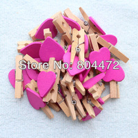400x Wooden Heart Clip Pegs Purple Heart Kid Party Favor Supply 3cm Wood Pegs Free Shipping Worldwide 1500