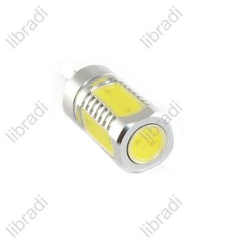 1pcs G4 5 SMD 7W LED White / Warm White Car Light Bulb Chip AC DC 12V 450Lumen