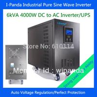 I-P-XD-6000VA 4000w frequency inverter single phase solar invertor   pump 48v 220v DC48V DC96V