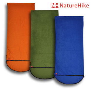 Naturehike outdoor envelope style fleece sleeping bag liner hooded fleece sleeping bag air conditioning quilt