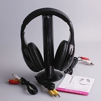 Wholesale-free shipping 5 in 1  Wireless Earphone Headphone for MP3 PC TV