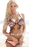 Free Shipping ML37023 Sexy Adult Women Bikinis Set Hot Sale 2014 Beautiful Swimwear Women Push Up Bikini