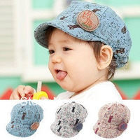 Free Shipping!Retail,1Piece! 2013 New Spring And Summer Cute Kids Hat,Baby Baseball Cap,Infant Lovely Cricket-Cap For 3-24Month