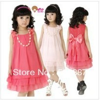 free shipping!2013 NEW older children children dress, chiffon dress (Complimentary necklace)