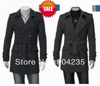 New Fashion Men's Style High Quanlity Stylish Woolen Trench Coat Windcoat jacket