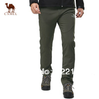 CAMEL unisex windproof outdoor fleece pants for lovers design outdoor soft shell warmly