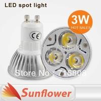 10pcs/lot high power led bulb lamp 3W GU10 E27 E14 Gu5.3 AC110V - 220V Aluminum indoor spotlight Warm /Cool WhiteFree Shipping