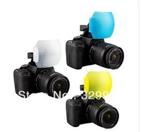 Brand New 3 Color Pop-Up Flash Diffuser Cover Kit for Canon Nikon Pentax Panasonic DSLR