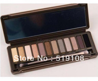 Brand 12 Colors make up palatte Eye Shadow Makeup Set Naked Eyeshadow Palette professional makeup free shipping B5111