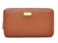 1 piece free shipping Woman Cosmetic Bag Makeup Bag Double Layer PU Toiletry Kits Multifunctional Storage Bag