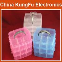 1PCS Multi Utility Plastic Storage Case Box 3 Layer Nail Art Craft Fishing Makeup Tool Free Shipping