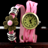 Free Shipping  YIWU fashion watches wholesale Retro knit flower to take personality women watch.2013 hot sale