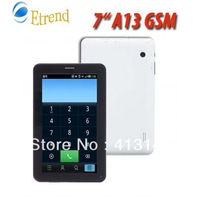 "Fast Ship New A13 GSM SIM Slot Phone call Tablet PC Google Android 4.0 Dua Caneras 7"" capacitive touch MID Tablet"