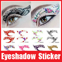 20pairs Eye Rock Eyeshadow Tattoos Sticker Decal Double Eyelid Makeup Tools Free Shipping