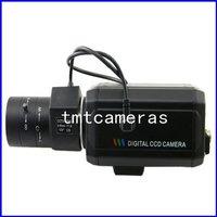 "HD 700TVL 1/3"" Sony CCD Effio-E DSP CCTV Security Video Box Color Camera OSD Menu D-WDR HLC 6-60mm Auto IRIS CS Lens"