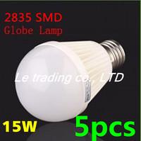 5pcs/lot E27 15W 2835SMD AC85-265V Bubble Ball Bulb High power Energy Saving Ball LED Light Bulbs Lamp Lighting Free shipping