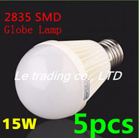 5pcs/lot E27 15W 2835SMD AC85-265V Bubble Ball Bulb High power Energy Saving Ball LED Light Bulbs Lamp Lighting Free shipping