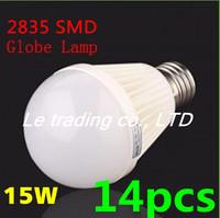 14pcs/lot E27 15W 2835SMD AC85-265V Bubble Ball Bulb High power Energy Saving Ball LED Light Bulbs Lamp Lighting Free shipping