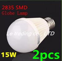 2pcs/lot E27 15W 2835SMD AC85-265V Bubble Ball Bulb High power Energy Saving Ball LED Light Bulbs Lamp Lighting Free shipping