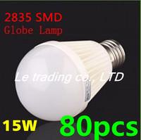 80pcs/lot E27 15W 2835SMD AC85-265V Bubble Ball Bulb High power Energy Saving Ball LED Light Bulbs Lamp Lighting Free shipping