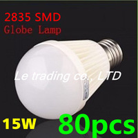 80pcs/lot E27 15W 2835SMD AC85-265V Bubble Ball Bulb High power Energy Saving Ball LED Light Bulbs Lamp Lighting Free shipping