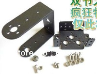 Free shipping Mg995 996 steering gear pan and tilt mount mechanical robot servo mount set