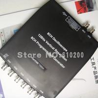 Free shipping Hantek1008A 8CH  PC USB Virtual Oscilloscope DAQ  8 channel programmable generator Support XP, Vista, Windows 7