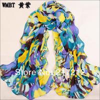 Summer and Winter New Women's Fashion printed Design chiffon silk scarf/ shawl