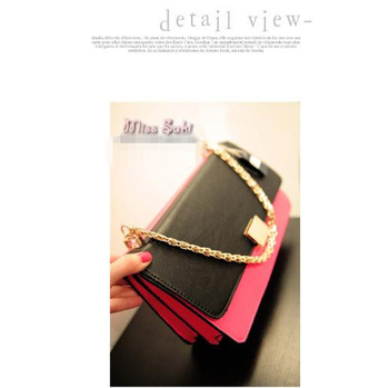 Miss suki 2013 women's handbag fashion neon bag color block decoration color block bag chain bag handbag