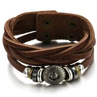 Korean fashion jewelry wholesale new bracelet men 's retro bracelet fine leather bracelet Hot style Free Shipping