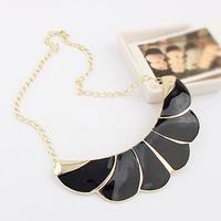 Enamel Leaf Flower Alloy Drop Gold Choker Collar Bib Statement Necklaces & Pendants New 2014 Fashion Jewelry Women Wholesale T18