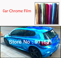 1.52*30CM High Quality air channel  material MIRROR FILM, CHROME Vinyl Wrapping Film Chrome Film